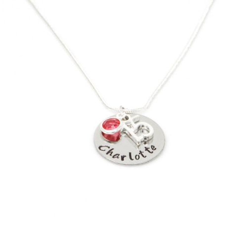 Personalised 15th Birthday Birthstone Necklace - Gift Boxed & Free Delivery UK